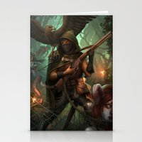hunter Stationery Cards featuring Hunter by Mitul Mistry