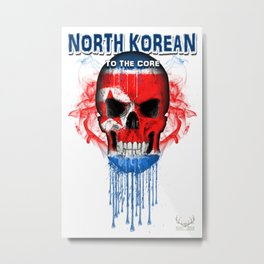 To The Core Collection: North Korea Metal Print