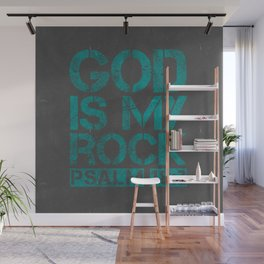 GOD IS MY ROCK Wall Art Wall Mural