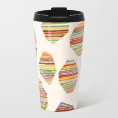 watercolor geometric lines Travel Mug
