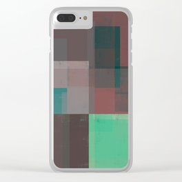 Abstract Geometry No. 15 Clear iPhone Case