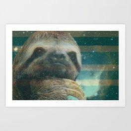 Ragin' like sloth!  Art Print