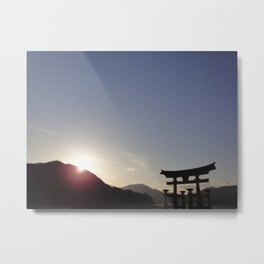 Shrine at Sunset Metal Print
