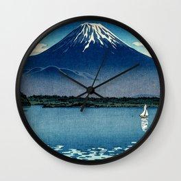 Tsuchiya Koitsu - Mount Fuji and Shoji Lake - Japanese Vintage Woodblock Ukiyo-E Wall Clock