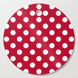 Red and Polka White Dots Cutting Board