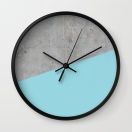 Concrete and Island Paradise Color Wall Clock