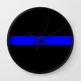 Thin Blue Line Police Flag Wall Clock