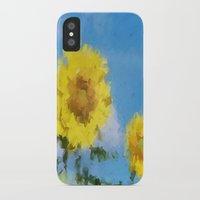 sunflowers iPhone & iPod Cases featuring Sunflowers by Paul Kimble