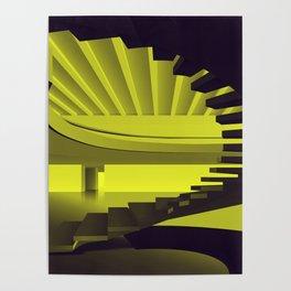 Upstairs - Brasilian Brutalism Poster