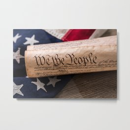 We the People Constitution Metal Print