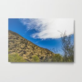 Clouds Stretching Across a Deep Blue Sky in the Anza Borrego Desert, California, USA Metal Print