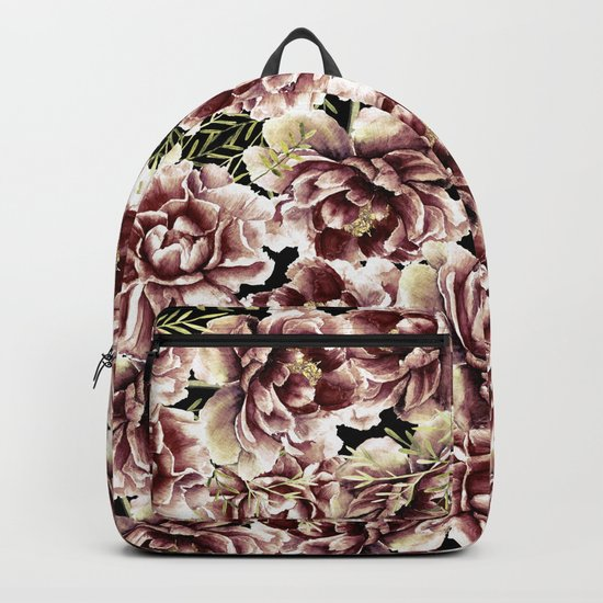 Vintage Flowers At Night #society6 Backpack