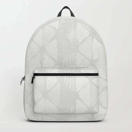 Simply Braided Chevron Lunar Gray Backpack