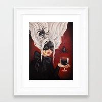black widow Framed Art Prints featuring Black widow by Black Fury