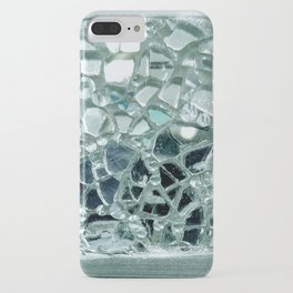 Icy Blue Mirror and Glass Mosaic iPhone Case