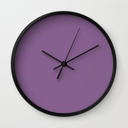 French Lilac - solid color Wall Clock