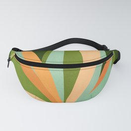 Colorful Agave / Painted Cactus Illustration Fanny Pack