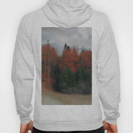 October Forest Red Green Hoody