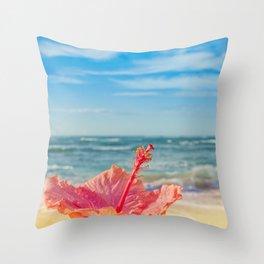 peace love and aloha Throw Pillow