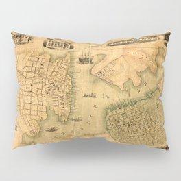 Map Of Norfolk 1851 Pillow Sham