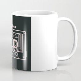 Black and White Disco Music Cassette Coffee Mug