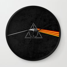 the darkside of the deathly hallows Wall Clock
