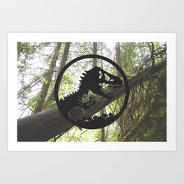 Welcome to Jurassic Park Art Print