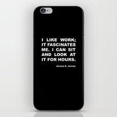 On work iPhone & iPod Skin