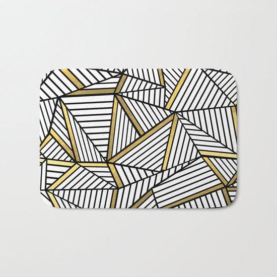 Ab Lines 2 White Gold Bath Mat
