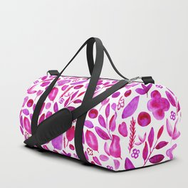 provincial flowers pink seamless pattern Duffle Bag