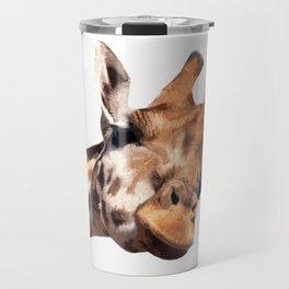 Giraffe portrait Travel Mug