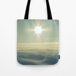 Our hearts burn for more - Mt. Rainier Tote Bag