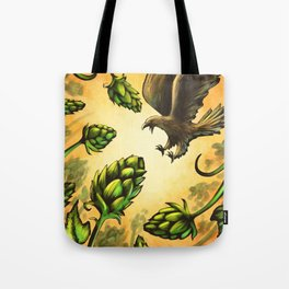 Screaming Eagle and Raging Hops (Warm) Tote Bag