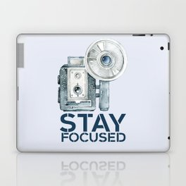 Stay Focused in Watercolor and Typography Laptop & iPad Skin