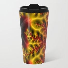 Fiery Fractal Travel Mug