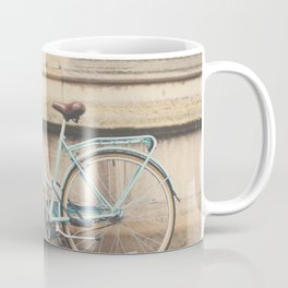 a mint green bicycle in Cambridge, England Coffee Mug
