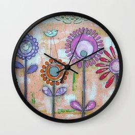 Flower & Bird Wall Clock