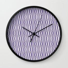 Ultra Violet Wavy Pattern Wall Clock