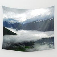 norway Wall Tapestries featuring Norway Above the Clouds by PerfxctWorld