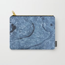 Blue ice background Carry-All Pouch