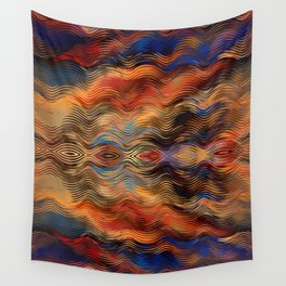 Southwestern Native American Ethnic Tribal Inspired Colorful Abstract Pattern Wall Tapestry