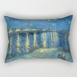 Starry Night Over the Rhone - Van Gogh Rectangular Pillow