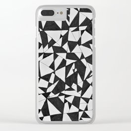 Black Triangle Abstract Art Deco Drawing Clear iPhone Case