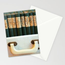 Aged Books in a Suitcase Stationery Cards