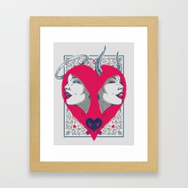 Saint or Sinner Framed Art Print