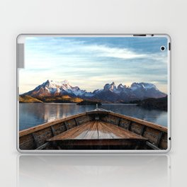 Torres del Paine National Park Chile, The Boat in Patagonia Laptop & iPad Skin