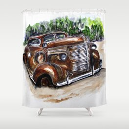 1938 Crime Fighter Shower Curtain