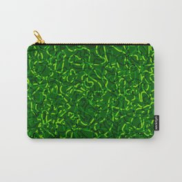 Chaotic bright tangled ropes and green dark lines. Carry-All Pouch