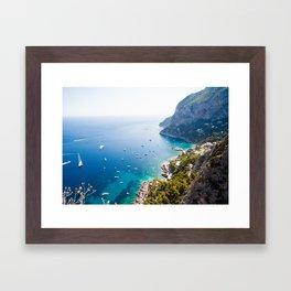 Capri, bay of Naples, Italy Framed Art Print