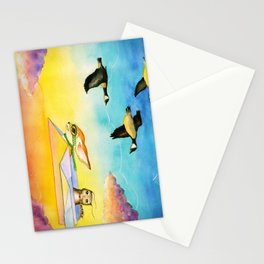 Herbert the Owl Considers Parachutes Stationery Cards